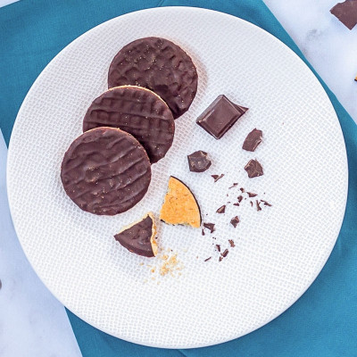 Lot de 4 sachets de 4 biscuits nappés chocolat
