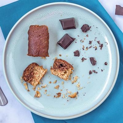 Lot de 4 mini cake bio marbré cacao, vanille