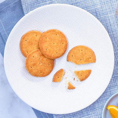 Lot de 4 sachets de 5 biscuits zeste d'orange